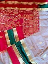 Indian Banarasi Sari /Katan/Bridal Patli Pallu KANCHIPURAM Pure Silk Saree 35