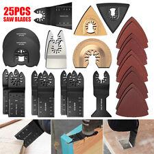 25Pcs Saw Blades Oscillating Multi Tool Accessories Kit For Fein Bosch Dremel CA