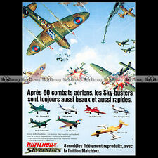 MATCHBOX Lesney Sky-Busters SP7 JUNKERS 87B SP8 SPITFIRE 1974 - Pub / Ad #A909