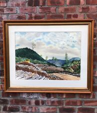 Norfolk Virginia Artist Kenneth Harris W/C. Lac Onatchiway Quebec Signed. 1966