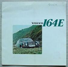 VOLVO 164E Car LF Sales Brochure 1972-73 FRENCH TEXT #RSP/PV 525/2-73 12.72