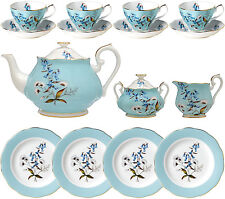100 YEARS OF ROYAL ALBERT 1950 FESTIVAL 15 PIECE TEA SET - NEW