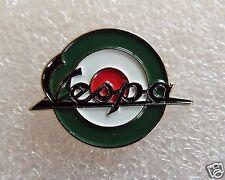 Vespa Italian green, red & white Roundel motorcycle enamel pin lapel badge mods