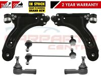 FOR VAUXHALL CORSA C 2000-2006 FRONT WISHBONE ARMS TRACK ROD ENDS DROP LINKS