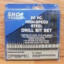 Genuine Shop Source 20 Piece High-Speed Steel Drill Bit Set Only **NEW-READ**