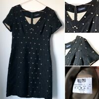 PIAZZA SEMPIONE Black CutOut Pencil Dress Work Career Smart  IT44 UK12 Italy