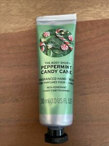 The Body Shop Sealed Peppermint Candy Cane Hand Cream 30ml New