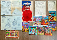 LOT He-Man MOTU+TMNT Ninja Turtles Paperwork Comics Instruction Castle Grayskull