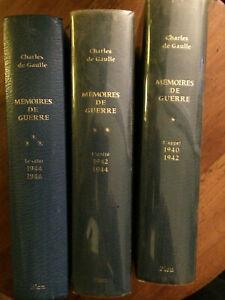 De Gaulle Charles.Mémoires de guerre,l'appel,l'unité,le salut,1940 à 1946.Ed1969