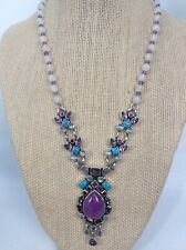 Stunning  Nicky Butler  Sterling Silver 925 Moonstone Turquoise Topaz Necklace