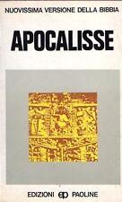 NUOVA VERSIONE DELLA BIBBIA APOCALISSE  A.LANCELLOTTI EDIZIONI PAOLINE (JA31)