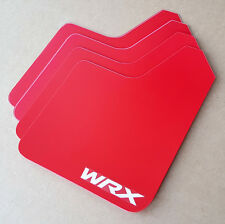 [SR] STARTER Mud Flaps Set RED with Custom Vinyl Logo B