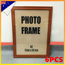 NEW 6x A4 Size Wooden Timber Document Certificate Photo Picture Glass Frame Sets