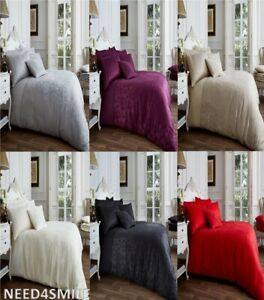 Stylish Vincenza Jacquard Duvet Cover Sets With Pillow Cases All Sizes Uk