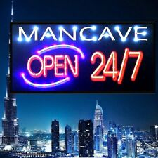 Bar Open Sign NEON EFFECT Home Bar Man Cave Pub Club Window Plaque Display