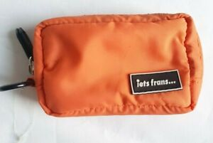 IETS FRANS SMALL ORANGE CLIP ON BAG POUCH NEW FREE UK POSTAGE