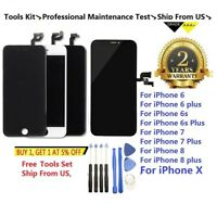 LCD Display Touch Screen Digitizer Replacement  For iPhone X 6 6S 7 8 Plus Lot