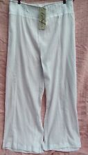 AUTOGRAPH swimsuit summer WHITE Palazzo cotton crepe BEACH pants gypsy boho 26