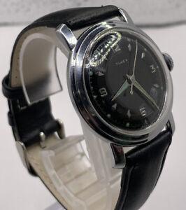 Vintage US Time Timex Men's Black dial running good.