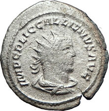 GALLIENUS & his father VALERIAN I 255AD Ancient Silver Roman Coin i73380