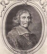 Portrait XVIIe  Antonio Barberini Evêque Poitiers Archevêque Reims Cardinal 1680