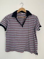 Womens Top EWM M 12 Stripe Short Sleeve Summer <JJ11789 T