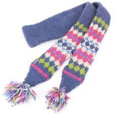 Bufanda de mujer de color principal azul 100% lana