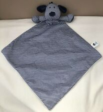 Jellycat Navy Blue Stripe Skiddle Puppy Dog Baby Soother Toy Comforter Blanket