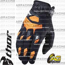 Thor Deflector Gloves Orange Black Adult Small Size 8 Motocross Enduro Quad ATV