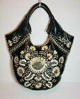 ISABELLA FIORE RARE FLORAL PIPER BOHO EMBROIDERED LEATHER HOBO HANDBAG NW0T $695