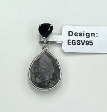 Tourmalinated Quartz & Black Spinel Pendant, Gems Tv, Gemporia, With Cert