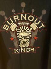 Burnout Kings black XXL T-shirt Gasmask and piston logo 2XL