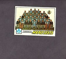 1977 Topps Hockey Set TORONTO MAPLE LEAFS TEAM Card # 86