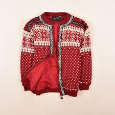 Windfjord Kinder Jacke Jacket Gr.140 100% Schurwolle Strickjacke Norweger 84888