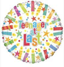 "Teenager At Last 13th Birthday 18"" Balloon Birthday Party Decorations"