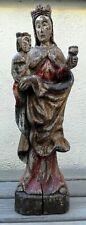 Vierge à l'enfant en bois sculpté 51 cm