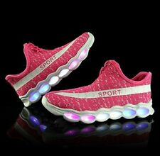 REDUCED LED Trainer Shoes USB Charging Flashing Low-top Lightweight Sneaker SALE