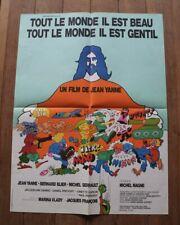 Affiche Tout le monde il est beau Tito Topin Jean Yanne Bernard Blier 48x64cm
