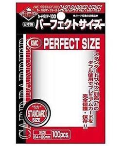 KMC Clear Perfect Size - Fits Pokemon MTG - Standard Deck Protectors - Choose