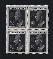 MNH Stamp block / Reinhard Heydrich / Hitlers Hangman / 1943 Third Reich