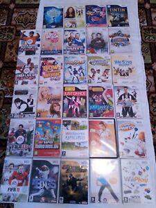 Big Bundle 29 Nintendo Wii Video Games Cases/Manuals NO GAME DISCS Mario Sports