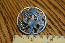 Vintage WWII Army Military E Pluribus Unum Eagle Crest Emblem Cap Hat Pin Badge