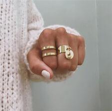 2Pcs/Set Gold Midi Finger Ring Set Vintage Punk Boho Knuckle Rings Jewelry NEW