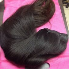 Speacial Offer Raw Russian Human Hair Weft Extensions 18 inches Naturally Dark