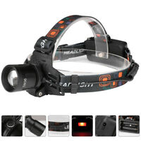 ZOOMABLE T6 LED HEADLAMP HEADLIGHT HEAD TORCH LAMP WATERPROOF FLASHLIGHT TOP