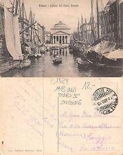 Trieste - Veduta del Canal Grande 1915 WWI TIMBRO 32a DIVISIONE (A-L 213)