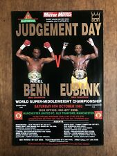 Boxing Poster Benn v Eubank Judgement Day Totally Original 100% Authentic