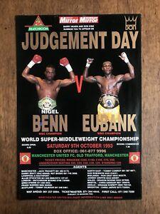 Boxing Poster Benn v Eubank Judgement Day Totally Original 100% Authentic
