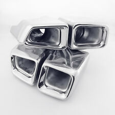 1 Pair Quads AMG W221 S63 E63 Style T304 Exhaust Tips For Mercedes Benz S Class