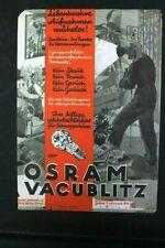 Age Pression Publicité Osram Vacublitz Ampoule Handzettel Old Vintage